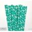 Single Pattern Paper Straws หลอดกระดาษ ใช้สำหรับดื่มน้ำ thumbnail 2