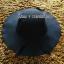 หมวกปีกกว้าง หมวกเที่ยวทะเล หมวกผ้าวูล สีดำ แต่งโบว์รอบ รอบศรีษะ 60 cm / ปีกกว้าง 10 cm thumbnail 1