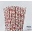 Floral Pattern Paper Straws หลอดกระดาษ ใช้สำหรับดื่มน้ำ thumbnail 11