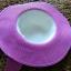หมวกปีกกว้าง หมวกเที่ยวทะเล หมวกปีกว้างสีทูโทน ขาว-ชมพู คาดโบว์ใหญ่ลายจุดเก๋ๆ thumbnail 5
