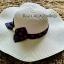 หมวกปีกกว้าง หมวกเที่ยวทะเล หมวกปีกว้างสีครีม คาดโบว์ใหญ่ลายจุดเก๋ๆ รอบศรีษะ 59 cm / ปีกกว้าง 11 cm ***ถ่ายจากสินค้าจริงที่ขายค่ะ*** thumbnail 2