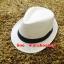 หมวกปานามาปีกสั้น หมวกสาน หมวกปานามา สีน้ำตาลอ่อน คาดดำ พร้อมส่งค่ะ ปีกกว้าง 3.5 ซม รอบศรีษะ 57 -58 ซม. thumbnail 1