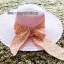 หมวกปีกกว้าง หมวกเที่ยวทะเล หมวกปีกว้างสีชมพู แต่งโบว์ใหญ่ลายจุดรอบ thumbnail 1