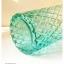 Green Glass Vase แจกันแก้วสีเขียว ลายนูน thumbnail 4