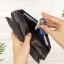 กระเป๋าสตางค์หนังแท้ทรงยาว สีน้ำตาลกาแฟ เก็บของได้เยอะมาก เเยกชิ้นส่วนได้ ใส่มืือถือได้ thumbnail 14