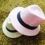 หมวกปานามาปีกกว้าง หมวกสาน หมวกปานามาสีชมพูคาดดำ พร้อมส่งค่ะ ปีกกว้าง 5 ซม รอบศรีษะ 57-58 ซม. thumbnail 1
