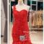 รหัส ชุดราตรี :PF185 ชุดแซกซีทรูตกแต่งลูกไม้ ชุดราตรียาวหรูสีแดงไหล่เฉียงสวยเก๋มากๆ เหมาะสำหรับงานแต่งงาน งานกลางคืน กาล่าดินเนอร์แบบเริ่ดๆ thumbnail 3