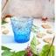 Vintage Short Glass Cup - Blue Flowers thumbnail 4