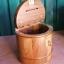 กระปุกออมสินไม้สัก รูปทรงถังไม้ thumbnail 2