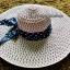 หมวกเที่ยวทะเล หมวกปีกกว้าง หมวกสานโทนชมพู แต่งโบว์ลายจุดกิ๊ปเก๋ รอบศรีษะ 59 cm ปีกยาว 13cm. thumbnail 2