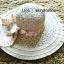 หมวกปีกกว้าง หมวกเที่ยวทะเล หมวกสานโทนน้ำตาล แต่งโบว์วินเทจรอบเก๋ ๆ รอบศรีษะ 56-58 cm thumbnail 2