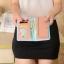 กระเป๋าสตางค์ผู้หญิง ทรงยาว หนังแก้ว รุ่น glass สีแดงแตงโม thumbnail 2