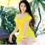 ชุดว่ายน้ำทูพีชสีเหลือง เสื้อ+กางเกง รอบอก 32-36 เอว 28-32 สะโพก 34-38 ตัวเสื้อยาว 30 นิ้วค่ะ thumbnail 1