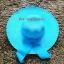 หมวกปีกกว้าง หมวกเที่ยวทะเล หมวกปีกว้างสีฟ้า แต่งโบว์ใหญ่ thumbnail 3