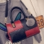 กระเป๋าถือขนาดกลาง กระเป๋าสะพายไหล่ สะพายข้าง Hand Bag Red Black สีแดงดำ thumbnail 7