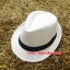 หมวกปานามาปีกสั้น หมวกสาน หมวกปานามา สีน้ำตาลอ่อน คาดดำ พร้อมส่งค่ะ ปีกกว้าง 3.5 ซม รอบศรีษะ 57 -58 ซม. thumbnail 2