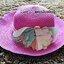 หมวกปีกกว้าง หมวกเที่ยวทะเล หมวกสาน สีชมพูเข้ม แต่งโบว์ดอกไม้รอบเก๋ ๆ รอบศรีษะ 59 cm / ปีกกว้าง 8 cm thumbnail 1