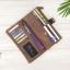 กระเป๋าสตางค์หนังแท้ทรงยาว สีน้ำตาลเทา เก็บของได้เยอะมาก เเยกชิ้นส่วนได้ ใส่มืือถือได้ thumbnail 11