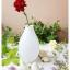 White Oval Glass Vase แจกันแก้วทรงรี สีขาว thumbnail 5