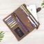 กระเป๋าสตางค์หนังแท้ทรงยาว สีน้ำตาลเทา เก็บของได้เยอะมาก เเยกชิ้นส่วนได้ ใส่มืือถือได้ thumbnail 12