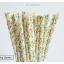 Floral Pattern Paper Straws หลอดกระดาษ ใช้สำหรับดื่มน้ำ thumbnail 8