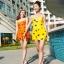 ชุดว่ายน้ำไซส์ xl สีส้ม 32-36 รอบเอว 24-30 สะโพก 34-40 นิ้ว ยาว 32 นิ้วค่ะ เนื้อผ้าดี สวยค่ะ thumbnail 3