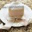 หมวกปีกกว้าง หมวกเที่ยวทะเล หมวกปีกว้างโทนน้ำตาล คาดโบว์ใหญ่เก๋ๆ thumbnail 1