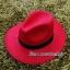 หมวกปานามา สักหลาดสีแดง ผ้าสักหลาดเนื้อดี เย็บขอบ ปีกกว้าง 7ซม รอบศรีษะ 62 ซม. (สินค้าพร้อมส่งค่ะ) **รูปถ่ายจากสินค้าจริง งานสวยจริงคะ** thumbnail 1