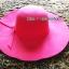 หมวกปีกกว้าง หมวกเที่ยวทะเล หมวกผ้าวูล สีแดง แต่งโบว์รอบ thumbnail 2