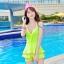 ชุดว่ายน้ำสีเขียว รอบอก 30-34 เอว 24-28 สะโพก 34-40 ยาว 28 นิ้วค่ะ thumbnail 1