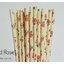 Floral Pattern Paper Straws หลอดกระดาษ ใช้สำหรับดื่มน้ำ thumbnail 1