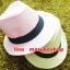 หมวกปานามาปีกกว้าง หมวกสาน หมวกปานามาสีชมพูคาดดำ พร้อมส่งค่ะ ปีกกว้าง 5 ซม รอบศรีษะ 57-58 ซม. thumbnail 2