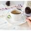 Ceramic Coffee Cup Set ชุดแก้วกาแฟ สีขาว ลายนูน thumbnail 5