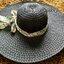 หมวกปีกกว้าง หมวกเที่ยวทะเล หมวกปีกว้างสีดำ แต่งโบว์ใหญ่ลายเสือเก๋ๆ thumbnail 4