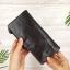 กระเป๋าสตางค์หนังแท้ทรงยาว สีน้ำตาลกาแฟ เก็บของได้เยอะมาก เเยกชิ้นส่วนได้ ใส่มืือถือได้ thumbnail 15
