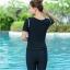 ชุดว่ายน้ำ 2xl เสื้อ+กางเกง รอบอก 32-38 เอว 26-32 สะโพก 36-44 นิ้ว มีหมวกด้วยนะคะ ผ้าเนื่อดีมากๆค่ะ thumbnail 3