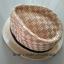 หมวกปานามา หมวกสาน หมวกปานามาปีกสั้นแต่งลาย โทนครีม +ลายน้ำตาลคาดดำ สินค้าพร้อมส่งค่ะ thumbnail 2