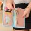 กระเป๋าสตางค์ผู้หญิง ทรงยาว หนังแก้ว รุ่น glass สีแดงแตงโม thumbnail 3
