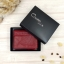 กระเป๋าสตางค์หนังแท้ หนังนิ่ม สีแดงเลือดนก รุ่น Contacts two Zipper Red ส่งพร้อมกล่อง thumbnail 4