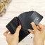 กระเป๋าสตางค์หนังแท้ หนังนิ่ม กระเป๋าสตางค์ผู้ชาย สีน้ำตาล รุ่น Contacts two Zipper Black ส่งพร้อมกล่อง thumbnail 4