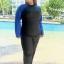 ชุดว่ายน้ำคนอ้วน สีน้ำเงิน 7xl และ 8xl กัน uv แขนยาว+ขายาว คลิ๊กดูขนาดและ เลือขนาด ใส่ในช่องหมายเหตุเลยนะคะ thumbnail 3