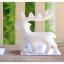 White Reindeer Candle Holders เชิงเทียนกวางสีขาว thumbnail 6