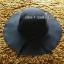 หมวกปีกกว้าง หมวกเที่ยวทะเล หมวกผ้าวูล สีดำ แต่งโบว์รอบ รอบศรีษะ 60 cm / ปีกกว้าง 10 cm thumbnail 2