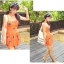 ชุดว่ายน้ำไซส์ xl สีส้ม 32-36 รอบเอว 24-30 สะโพก 34-40 นิ้ว ยาว 32 นิ้วค่ะ เนื้อผ้าดี สวยค่ะ thumbnail 5