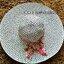 หมวกเที่ยวทะเล หมวกปีกกว้าง หมวกสานโทนขาวดำ แต่งโบว์ลายเก๋ๆ thumbnail 3