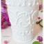 White Glass Cup แก้วน้ำสีขาว ลายนูน thumbnail 2