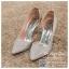 รหัส รองเท้าไปงาน : RR004 รองเท้าเจ้าสาวสีเงิน พร้อมส่ง ตกแต่งกริตเตอร์ สวยสง่าดูดีแบบเจ้าหญิง ใส่เป็นรองเท้าคู่กับชุดเจ้าสาว ชุดแต่งงาน ชุดงานหมั้น หรือ ใส่เป็นรองเท้าออกงาน กลางวัน กลางคืน สวยสง่าดูดีมากคะ ราคาถูกกว่าห้างเยอะ thumbnail 3