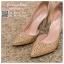 รหัส รองเท้าไปงาน : RR004 รองเท้าเจ้าสาวสีทอง พร้อมส่ง ตกแต่งกริตเตอร์ สวยสง่าดูดีแบบเจ้าหญิง ใส่เป็นรองเท้าคู่กับชุดเจ้าสาว ชุดแต่งงาน ชุดงานหมั้น หรือ ใส่เป็นรองเท้าออกงาน กลางวัน กลางคืน สวยสง่าดูดีมากคะ ราคาถูกกว่าห้างเยอะ thumbnail 4