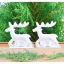 White Reindeer Candle Holders เชิงเทียนกวางสีขาว thumbnail 1