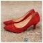 รหัส รองเท้าไปงาน : RR005 รองเท้าเจ้าสาวสีเเดง พร้อมส่ง ตกแต่งกริตเตอร์ สวยสง่าดูดีแบบเจ้าหญิง ใส่เป็นรองเท้าคู่กับชุดเจ้าสาว ชุดแต่งงาน ชุดงานหมั้น หรือ ใส่เป็นรองเท้าออกงาน กลางวัน กลางคืน สวยสง่าดูดีมากคะ ราคาถูกกว่าห้างเยอะ thumbnail 1